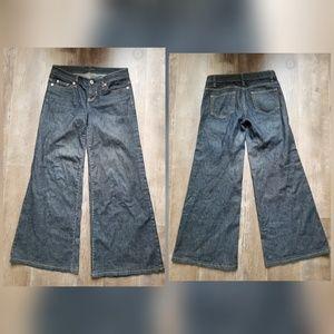 Elie Tahari Adena wide exaggerated leg jeans
